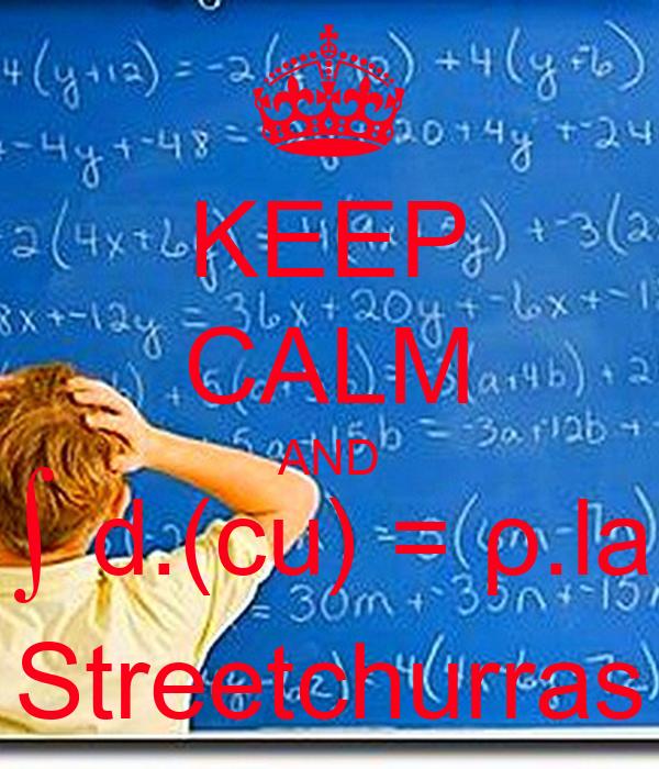 KEEP CALM AND ∫ d.(cu) = ρ.la Streetchurras