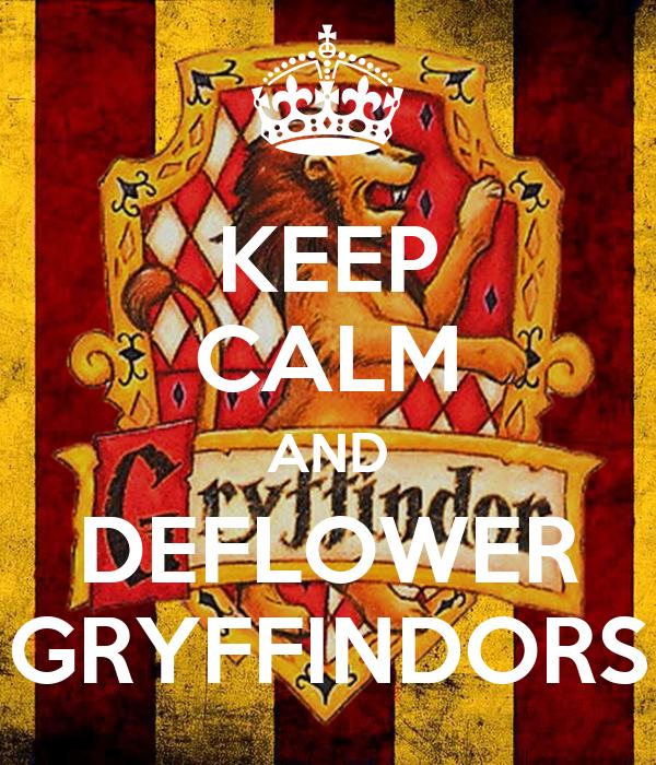 KEEP CALM AND DEFLOWER GRYFFINDORS