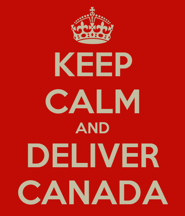 KEEP CALM AND DELIVER CANADA