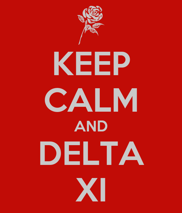 KEEP CALM AND DELTA XI