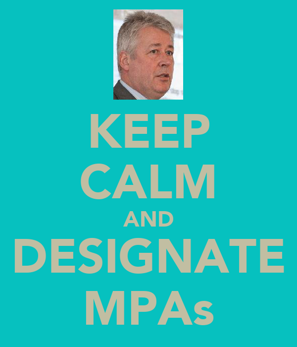 KEEP CALM AND DESIGNATE MPAs