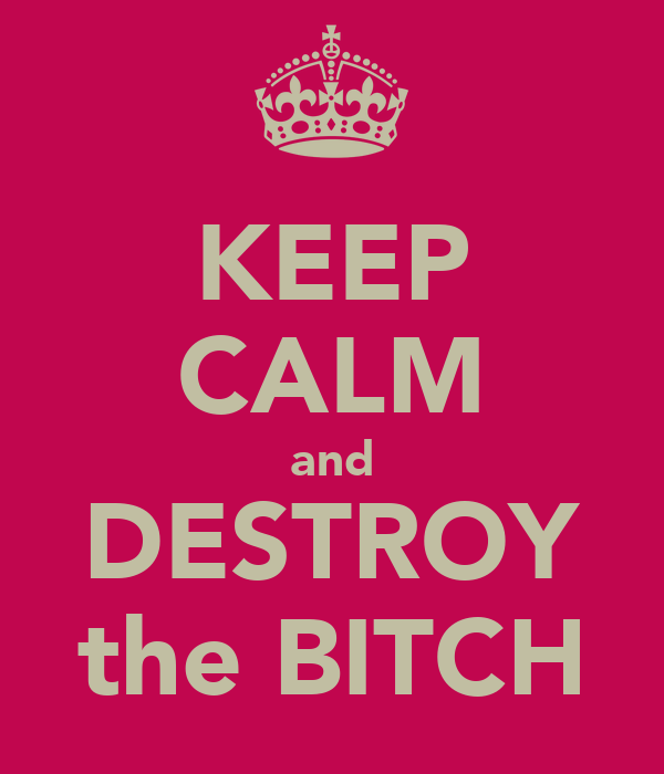 KEEP CALM and DESTROY the BITCH