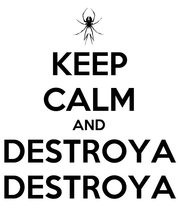 KEEP CALM AND DESTROYA DESTROYA
