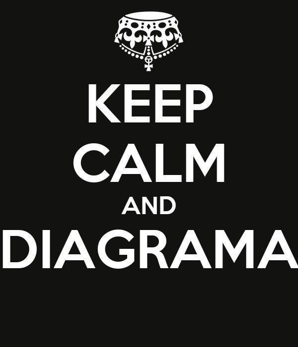 KEEP CALM AND DIAGRAMA