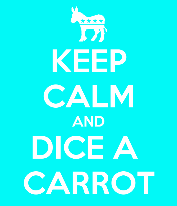 KEEP CALM AND DICE A  CARROT