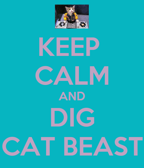 KEEP  CALM AND DIG CAT BEAST