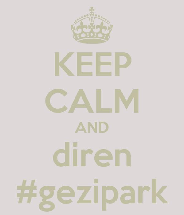 KEEP CALM AND diren #gezipark
