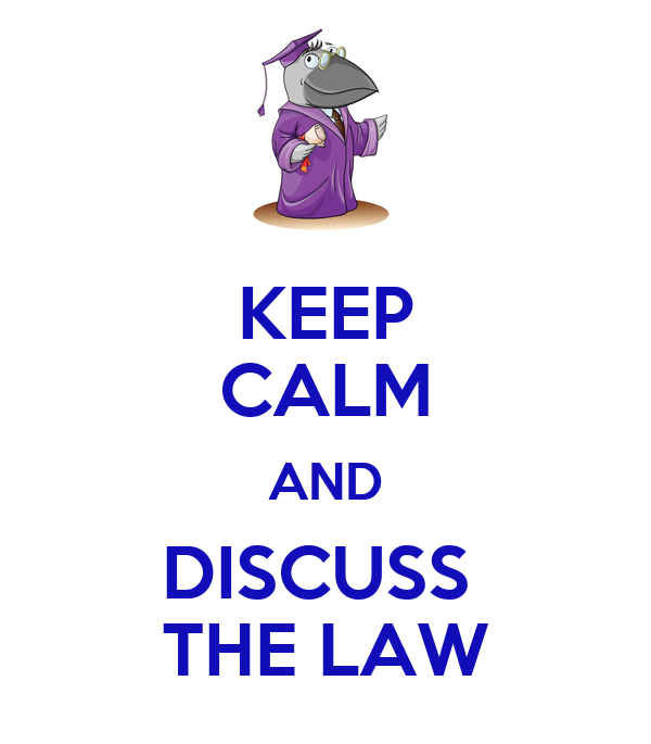 Discuss how the laws in your