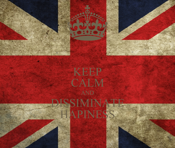 KEEP CALM AND DISSIMINATE HAPINESS