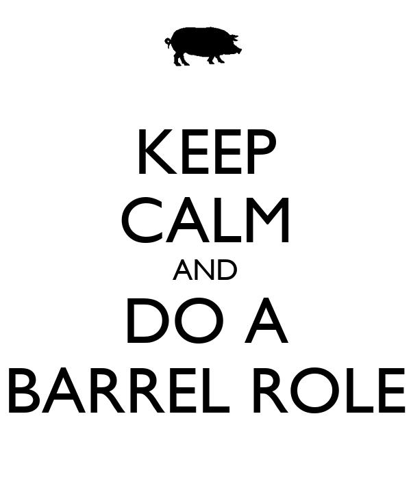 KEEP CALM AND DO A BARREL ROLE