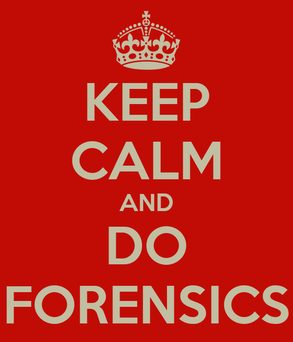 KEEP CALM AND DO FORENSICS