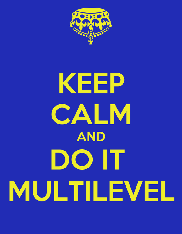 KEEP CALM AND DO IT  MULTILEVEL