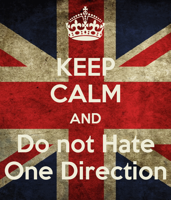 KEEP CALM AND Do not Hate One Direction