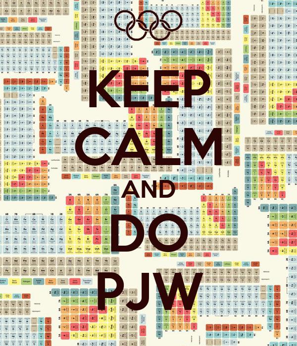 KEEP CALM AND DO PJW