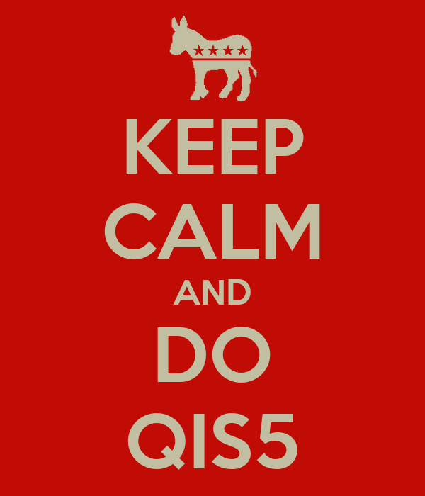 KEEP CALM AND DO QIS5