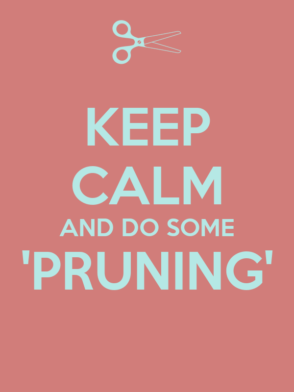 KEEP CALM AND DO SOME 'PRUNING'