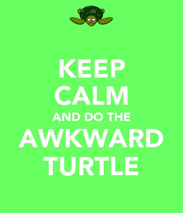 KEEP CALM AND DO THE AWKWARD TURTLE