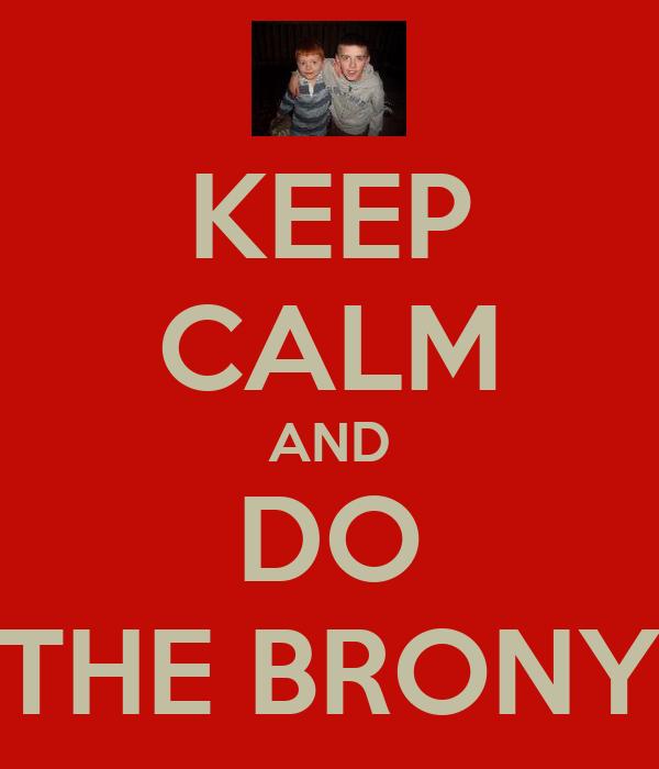 KEEP CALM AND DO THE BRONY