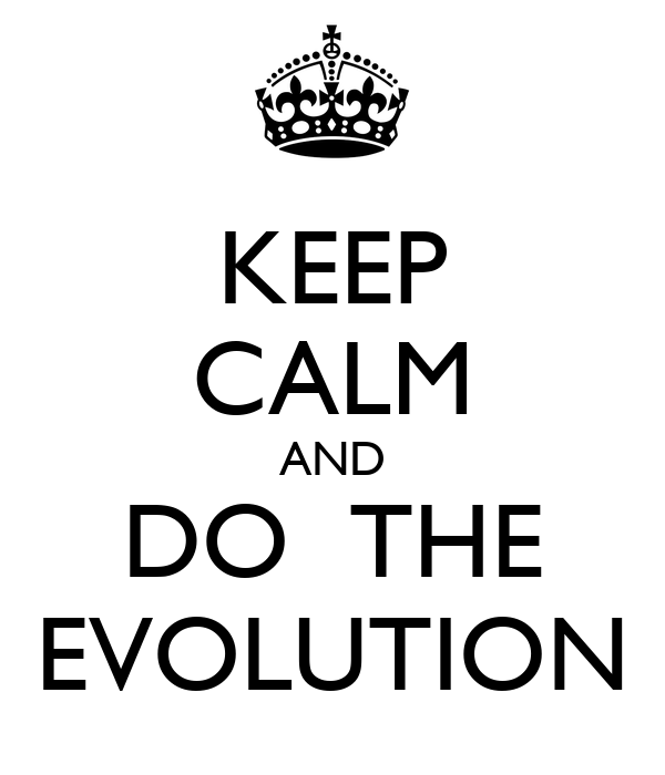 KEEP CALM AND DO  THE EVOLUTION