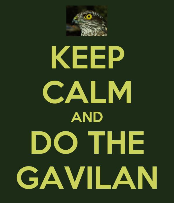 KEEP CALM AND DO THE GAVILAN
