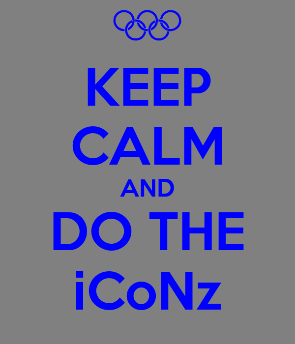 KEEP CALM AND DO THE iCoNz