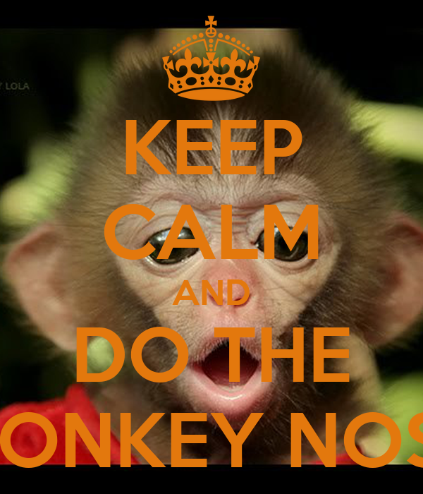 KEEP CALM AND DO THE MONKEY NOSE