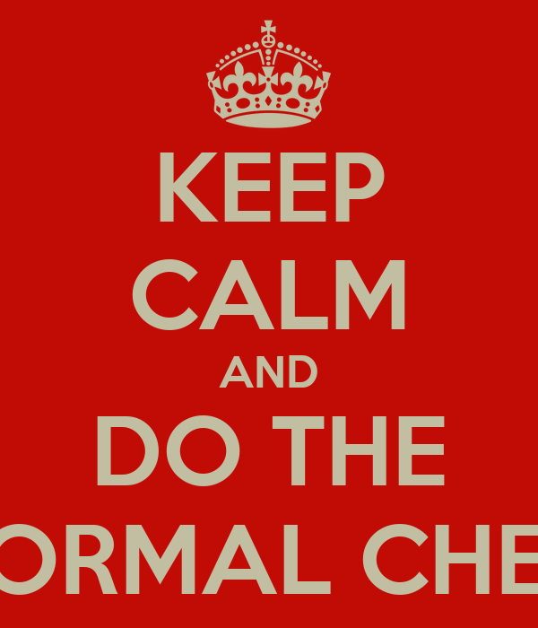 KEEP CALM AND DO THE NON NORMAL CHECKLIST