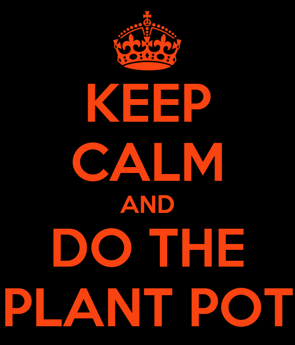 KEEP CALM AND DO THE PLANT POT