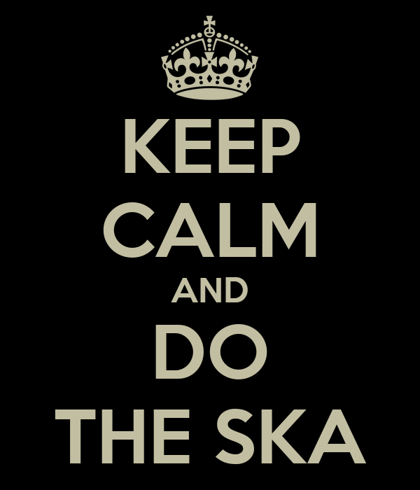 KEEP CALM AND DO THE SKA