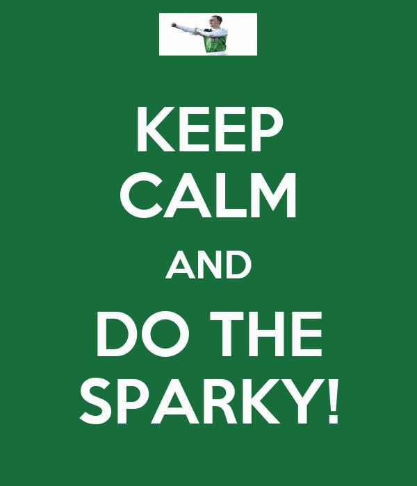 KEEP CALM AND DO THE SPARKY!
