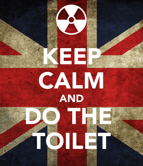 KEEP CALM AND DO THE  TOILET