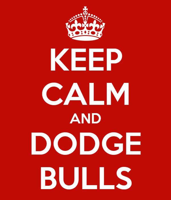 KEEP CALM AND DODGE BULLS