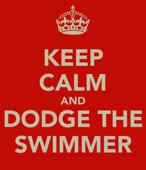 KEEP CALM AND DODGE THE SWIMMER