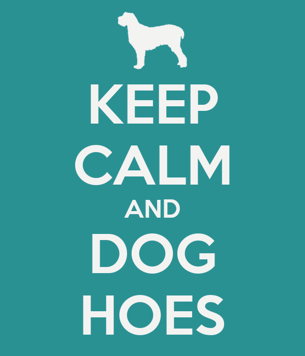 KEEP CALM AND DOG HOES