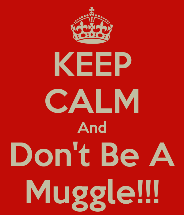 KEEP CALM And Don't Be A Muggle!!!