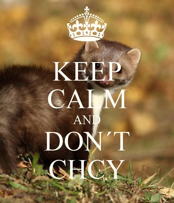 KEEP CALM AND DON´T CHCY