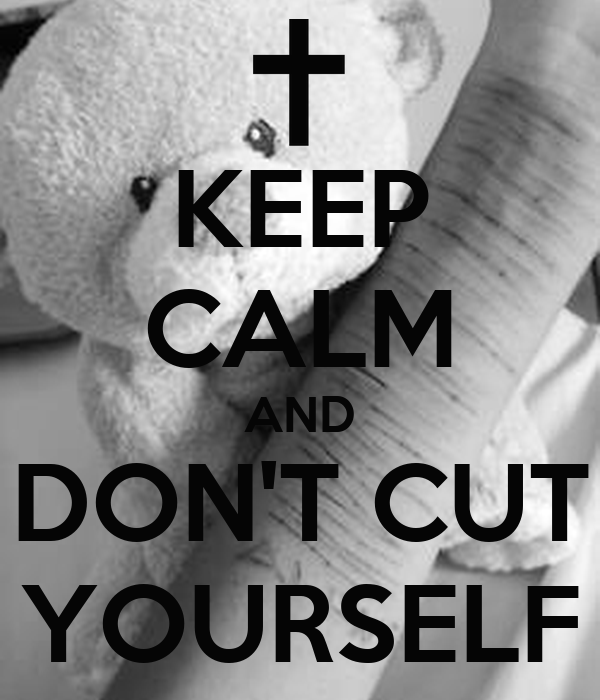 KEEP CALM AND DON'T CUT YOURSELF