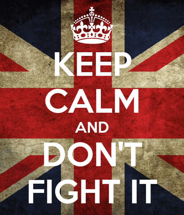 KEEP CALM AND DON'T FIGHT IT