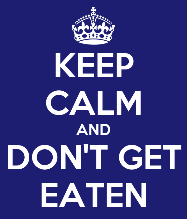 KEEP CALM AND DON'T GET EATEN