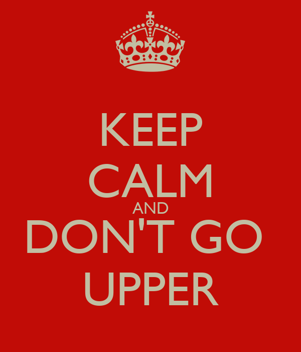KEEP CALM AND DON'T GO  UPPER