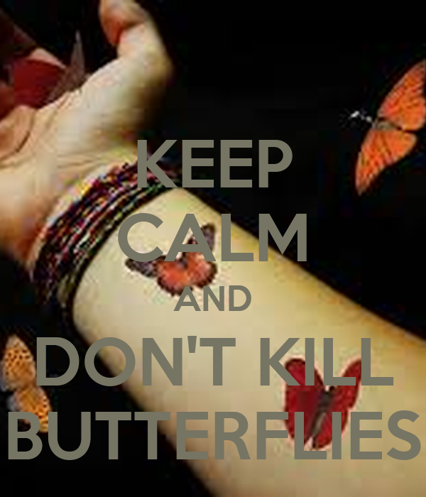 KEEP CALM AND DON'T KILL BUTTERFLIES