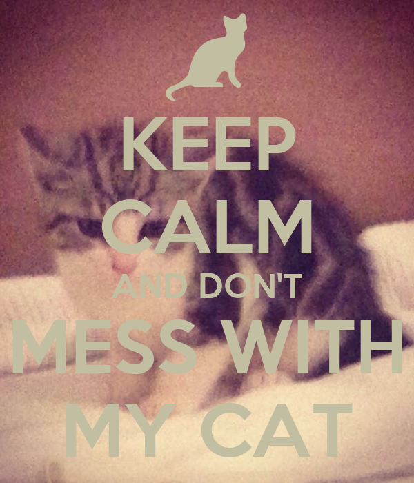 KEEP CALM AND DON'T MESS WITH MY CAT