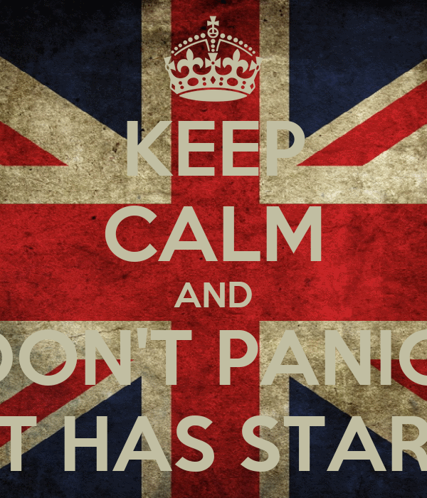 KEEP CALM AND DON'T PANIC: ICELT HAS STARTED!
