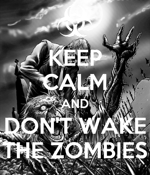 KEEP CALM AND DON'T WAKE THE ZOMBIES