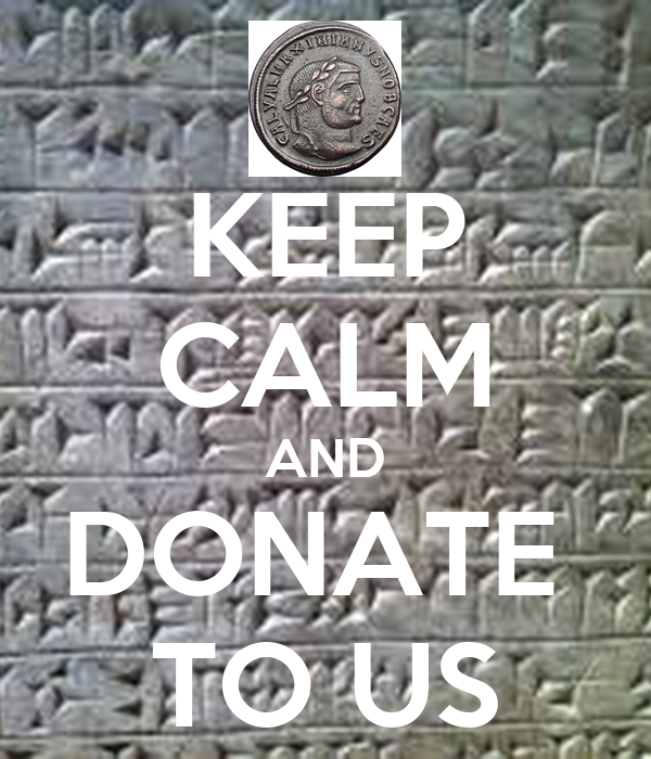 KEEP CALM AND DONATE  TO US