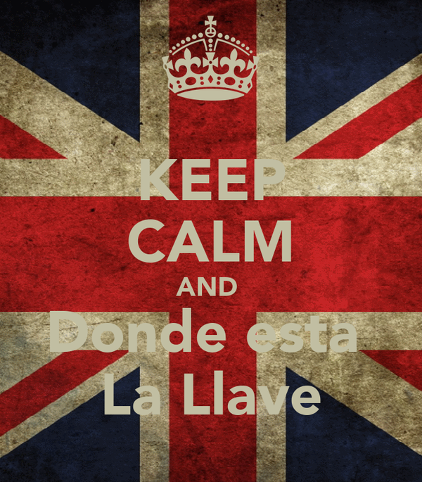 KEEP CALM AND  Donde esta  La Llave