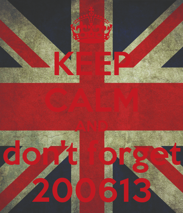 KEEP CALM AND don't forget 200613