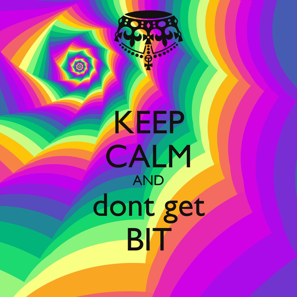 KEEP CALM AND dont get BIT