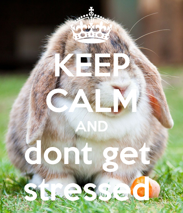 KEEP CALM AND dont get  stressed
