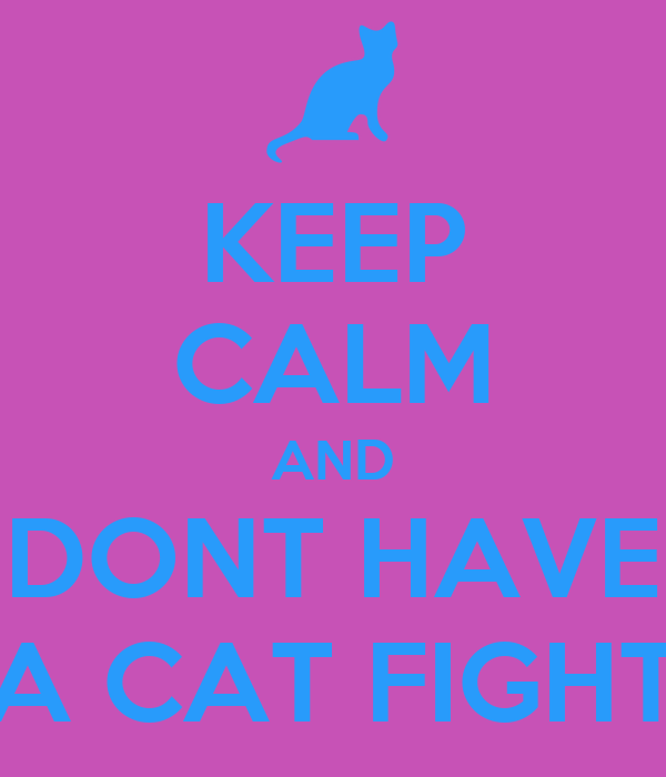 KEEP CALM AND DONT HAVE A CAT FIGHT